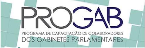 Identidade visual do Programa de Capacitação de Colaboradores dos Gabinetes Parlamentares - PROGAB
